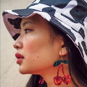 Urban Outfitters Cherry Resin Statement Earrings